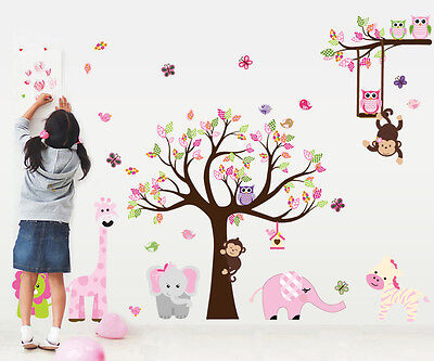 Cartoon Tree Removable Wall Sticker Vinyl Kid Decal Art Nursery Room Decor Mural
