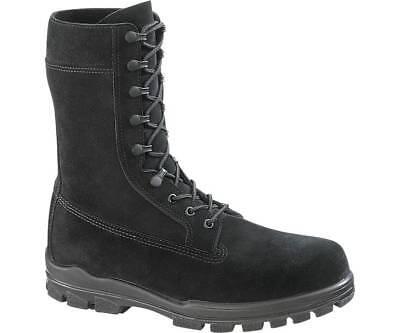 "Bates E0421 Men's1421 9"" US Navy Suede DuraShocks Steel Toe Black Boot 9 M"