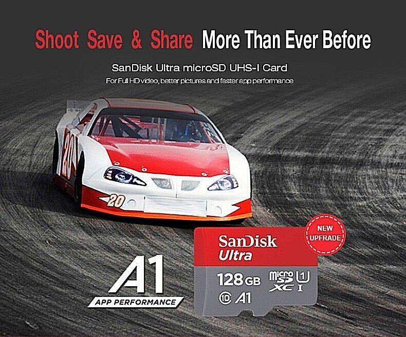 Mini SD Card 16 32 64 128 GB Class 10 Adapter SanDisk Fast M