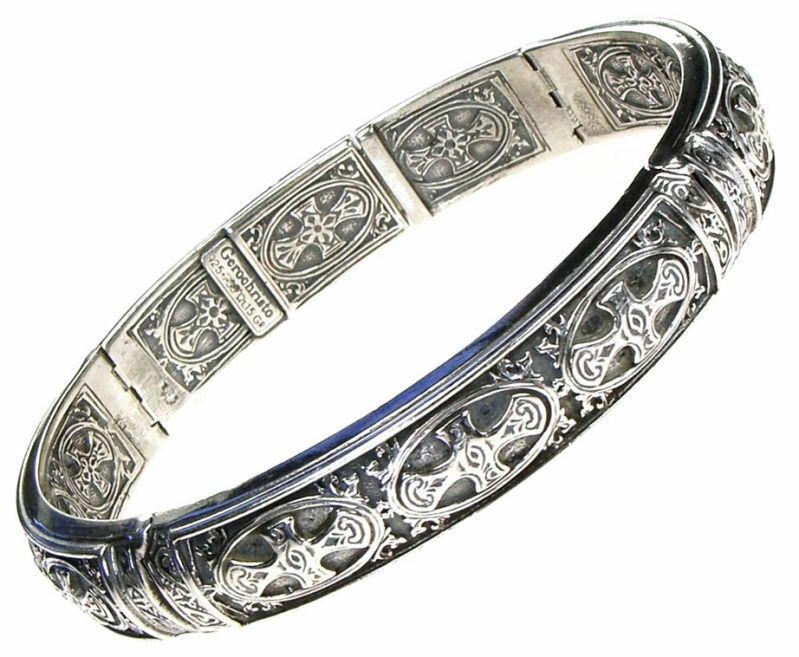 Medieval style Silver Cuff Bracelet Gift Ideas EBay