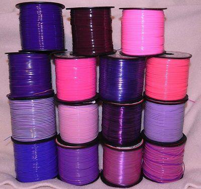 15 Pinks & Purple Mix ~ 2 YDs Each ~ 30 YDs Rexlace Gimp Plastic Lace Boondoggle