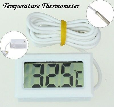 Mini Digital Lcd High Temperature Thermometer Indooroutdoor W Probe Celsius Us
