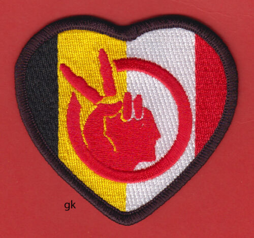 AIM AMERICAN INDIAN MOVEMENT HEART FLAG  PATCH.