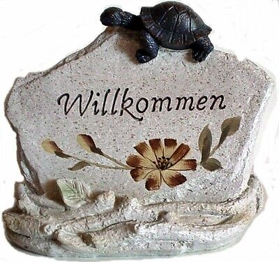 osch Stein - Schildkröte Welcomme Schild (Stein-schildkröte)