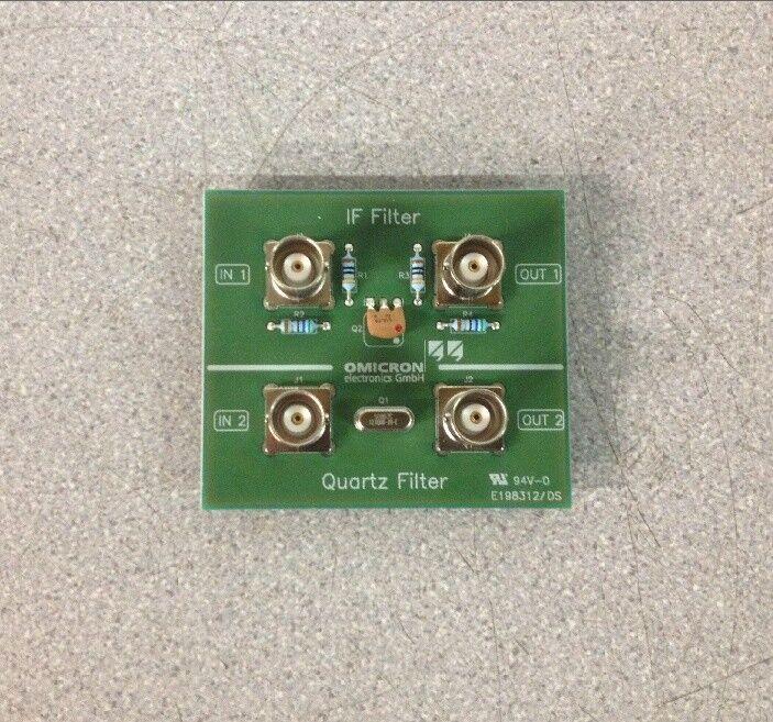 Omicron Lab IF Filter Quartz Filter Bodefilt-1 Test Board