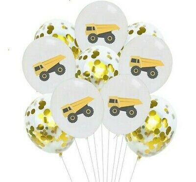 10PC Construction Truck Bulldozer Builder Balloon Birthday Party decoration USA - Party Truck