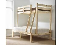 Duchess 4ft 6 Double HEAVY DUTY Solid Pine Triple Sleeper Bunk Bed. Frame only