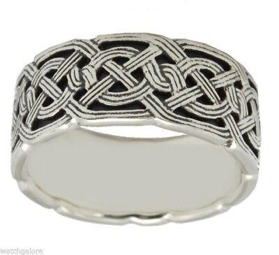 Men's Sterling Silver, 10k, 14k Gold Irish Celtic Weave K...