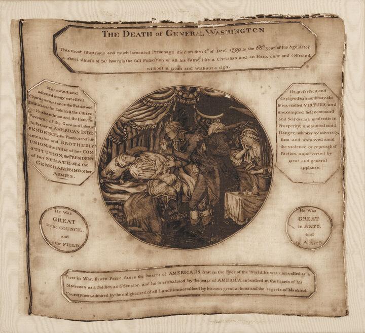 Rare The Death Of General Washington Textile