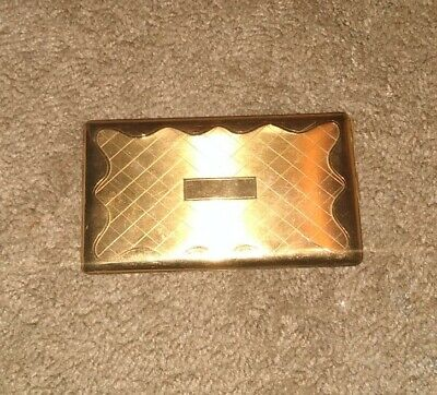 VINTAGE ELGIN AMERICAN -MADE IN USA CIGARETTE CASE, GOLD TONE FINISH