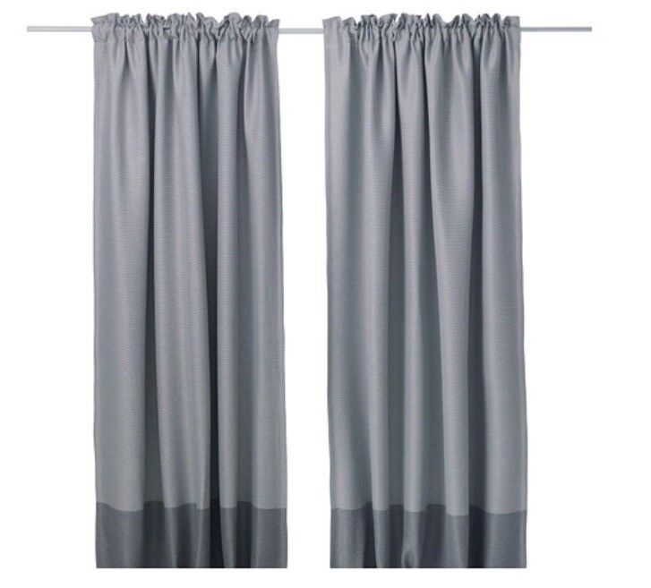 Grey block-out curtains 250cm  Excellent condition - IKEA Marjun | in  Clapham Junction, London | Gumtree