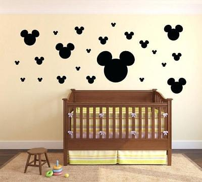Minnie Stickers (100 Mickey Minnie Mouse Disney Wall Decal Ears stickers Nursery Peel And Stick)