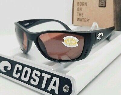 COSTA DEL MAR black/copper FISCH POLARIZED 580P sunglasses! NEW IN (Costa Fisch Sunglasses)