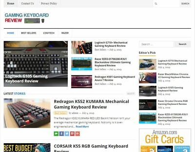 Gaming Keyboard Review Blog - Established Profitable Turnkey Wp Website For Sale