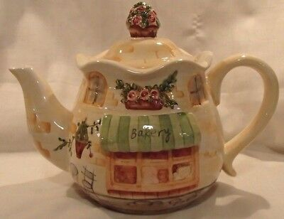 5 Cup Bella Casa Teapot by Ganz Kitsch country Kitchen