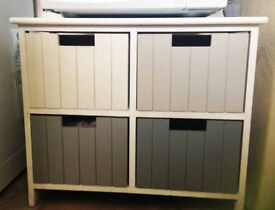 Cabinet with 4 drawers: good for kitchen, bathroom, bedroom etc