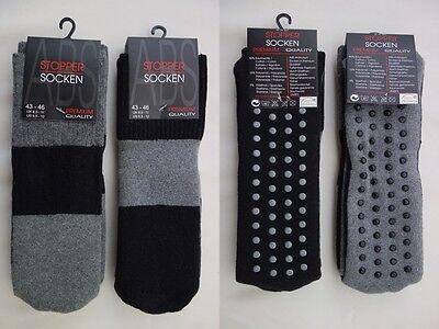 Hoch Damen-socken (2er Pack ABS Socken gekämmte Baumwolle Stoppersocken Damen Herren hochwertig)