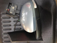 VW Sharan 7N Passenger Side Wing Mirror with Control Unit 2011-2016