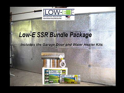 Low-E SSR 2 Car Garage Door Silver Insulation and Water Heater Tank Wrap Kit