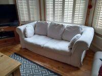 Cream Sofa Bed - VGC