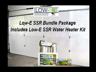 NASATEK SSR 2 Car Garage Door White Insulation and Water Heater Tank Wrap Kit