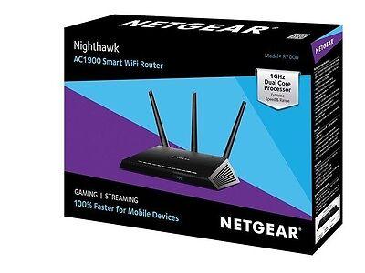 Netgear Nighthawk Ac1900 Dual Band Wi Fi Gigabit Router  R7000    Free Shipping