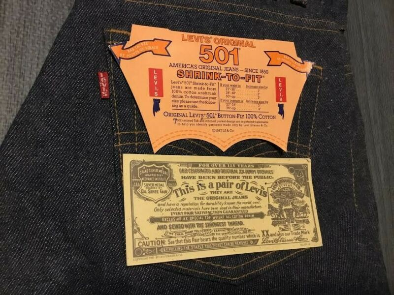 "NWT New Vintage Original 1987 Levi's 501 Button Fly 30""x33"" Dead Stock"