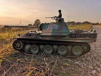 RC Kampfpanzer DEUTSCHER PANTHER G Schussfunktion ferngesteuerter Panzer NEU