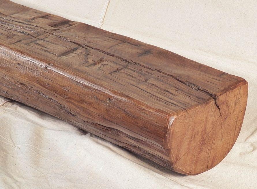 Rustic Oak Fireplace Beam Mantel Shelf