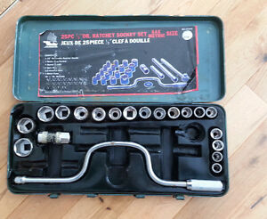 25 pc Ratchet Socket Set