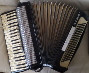 """Vintage Accordion for sale with Case: """"PATTI BROS"""""""