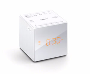 Radio Sony ICFC1T Alarm Digital Clock White.