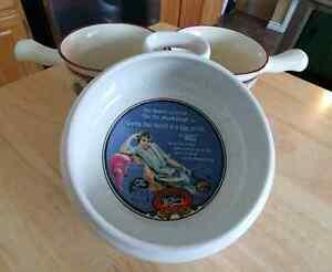 Vintage Watkins Soup Bowls