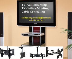 TV Wall Mounting Services - Projector Mount Ceiling Wall. Stratford Kitchener Area image 1