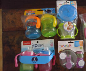 All brand new in box cups, snack cups, formula dispensers