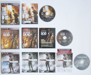PS3 - THE LAST OF US + THE WALKING DEAD + TOMB RAIDER