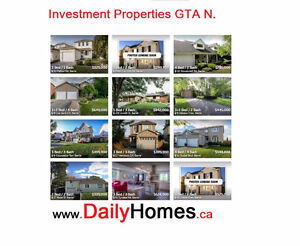 *** Investment Properties in North of Toronto
