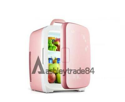 vehicle-mounted Dorm Room Office Kitchen Mini Refrigerator Fridge 15L pink