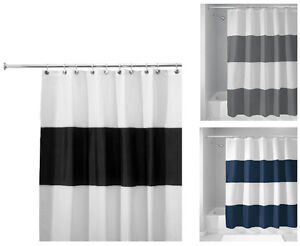 Brand New Inter Design Fabric Shower Curtain No Liner Required
