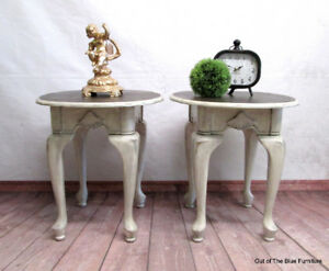 Beautiful side tables with lots of character