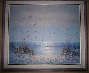 REDUCED !!!Canvas Painting of a Seaside Stratford Kitchener Area image 2