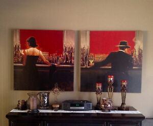 Pair of Two Wall Canvases