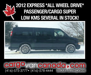 2012 CHEV EXPRESS * ALL WHEEL DRIVE * fr. $22,9OO! MANY IN STOCK