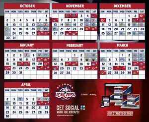 AHL Icecaps Games - 2 tickets plus parking $65 Great Gift Ideas!
