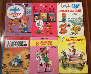 Lot de 18 bd Lucky Luke, Boule et Bill, Léonard, Ernst, Garfield