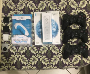 Wii remote and nunchuck controller