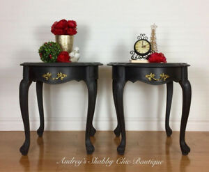 Luxurious French Style Bedside Tables or Vintage End Tables