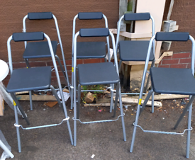 Bar stools folding only £15 each. RBW Final Furniture Clearance SALE N