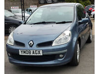 2008 Renault Clio 1.2 TCe Dynamique S Petrol Manual Hatchback Grey LOW MILES FSH