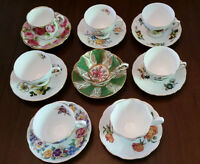 8 Fine China Tea Cup Sets